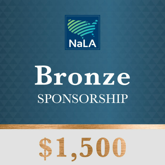 Bronze Sponsorship Tier NaLA 2017 Conference